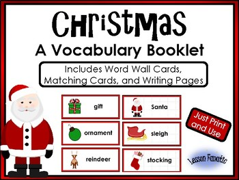 Christmas Words Vocabulary Booklet