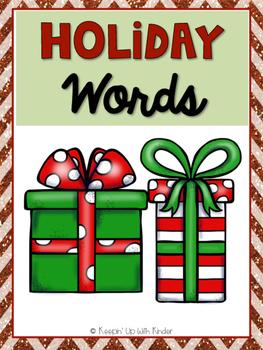 Mini Word Wall - Holiday Themed