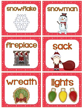 Christmas Word Work Cards