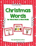 Christmas Word Work Cards