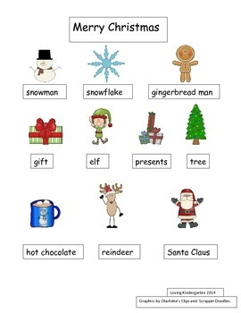 Christmas Words for Writing Workshop