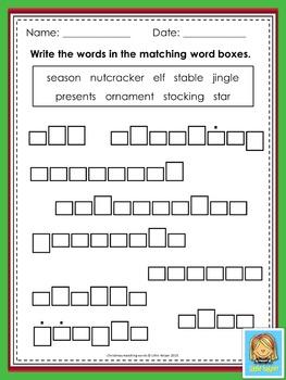 Christmas Vocabulary  match and write