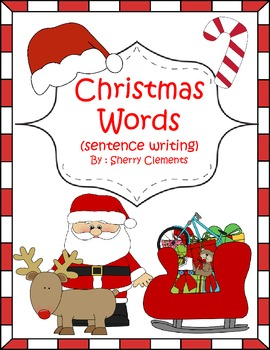 Christmas Words (sentence writing)