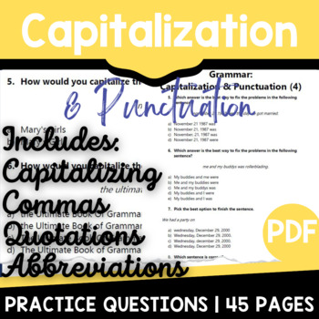 Capitalization And Punctuation Activities & Worksheets | TpT