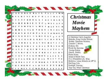 Christmas Wordsearch Movie Magic