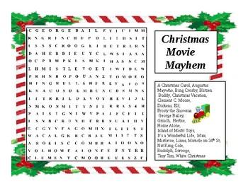 Christmas Wordsearch Movie Magic