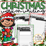 Christmas Work on Writing Activities & Prompts - NO PREP {winter themed}