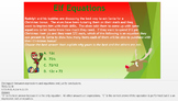 Christmas Work the Words (WtW) 6th Grade Word Problems Expressions and Equations