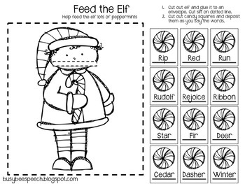 Christmas Worksheets.Christmas Worksheet Homework Pack For Speech Therapy