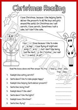 Christmas Worksheet Pack For ELA,ESL,EFL,SLL