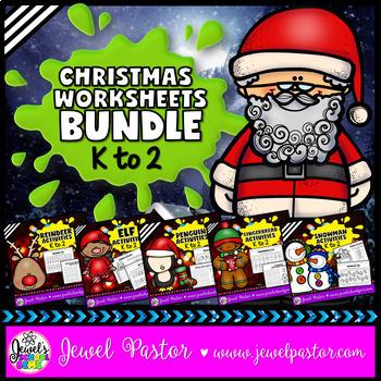 December Activities (Christmas Worksheets BUNDLE)