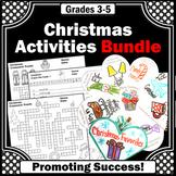 Christmas Worksheets BUNDLE Christmas Craft Activity Crossword Puzzle Vocabulary