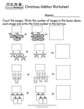Christmas Worksheets for Kindergarten (50 Worksheets)