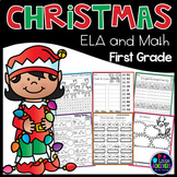 Christmas activities for First Grade Math Worksheets and Literacy Worksheets