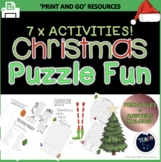 Christmas Worksheets Packet Fun Puzzles Primary 7 Activities Printable Booklet