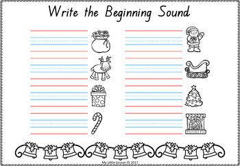 Christmas Worksheets QLD Beginners Font