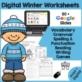 Winter Worksheets - Vocabulary, Grammar, Math, Writing Prompts {Dollar Deal}