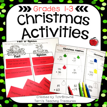 Christmas Worksheets and Activities: Primary Grades