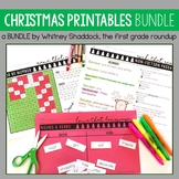 Christmas Activities for Math and Literacy BUNDLE