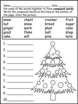 Christmas Worksheets Morning Work Print and Go