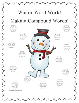 Christmas Worksheets for Winter Compound Words