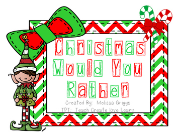 Christmas Would You Rather Cards