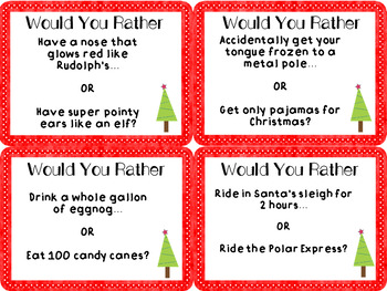 Christmas Would You Rather Task Cards