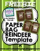 Christmas Wrapping - Reindeer Paper Bag Template