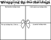 """Christmas """"Wrapping Up The Holidays"""" Activity Sheet"""