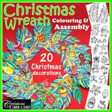 Christmas Wreath : 20 Christmas decorations - Print and color