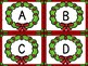Christmas Wreath  Alphabet Letter Flashcards Uppercase and Lowercase