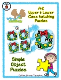 Christmas Wreath - Alphabet / Letter Puzzles - Simple Objects