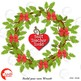Christmas Wreath Clipart, DIY Build your own! Pine Boughs Clipart, AMB-2299