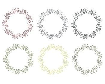 Christmas Wreath Clipart, Digital Design, Christmas Clipar