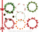 Christmas Wreath Creator, holiday decoration, pinecone, christmas tree,