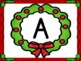 Christmas Wreath Full Page Alphabet Letter Posters Uppercase and Lowercase
