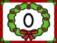 Christmas Wreath Full Page Number Posters 0-100