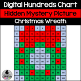 Christmas Wreath Hundreds Chart Hidden Picture Activity for Math