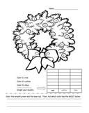 Christmas Wreath Math Graphing and Writing Prompt Common Core Aligned