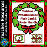 Christmas Wreath Number Flash Card & Poster Math Numbers 0-100 Bundle