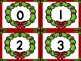 Christmas Wreath Number Flashcards 0-100