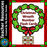 Christmas Wreath Number Flash Cards Math Numbers 0-100