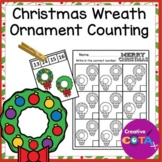 Christmas Wreath Ornament Counting Number Order Activities