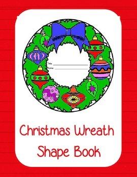 Christmas Wreath Shape Book