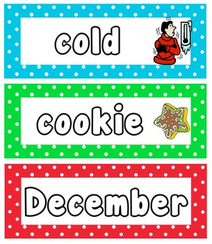 Christmas Write And Erase Vocabulary