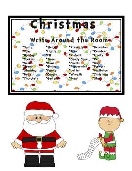 Christmas Write Around the Room