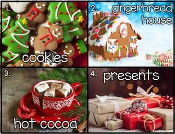 Christmas Write The Room Vocabulary