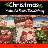 Christmas Write The Room Vocabulary