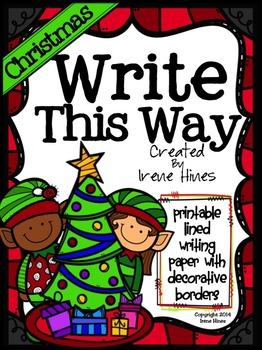 ✏️Writing ~ Christmas Write This Way ~ Decorative Printable Lined Winter Paper