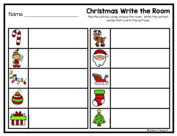 Christmas Write a Room